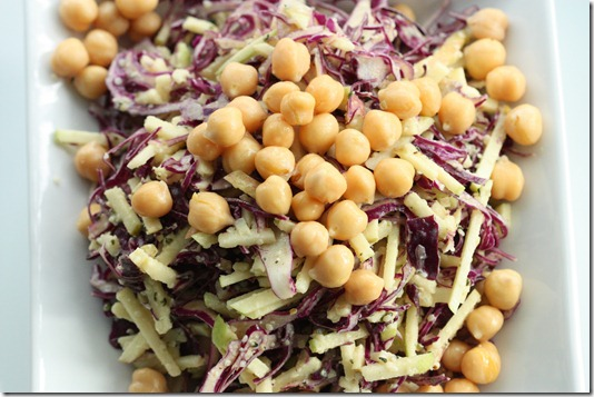 Crunchy Red Cabbage and Green Apple Sesame Slaw | The Full Helping