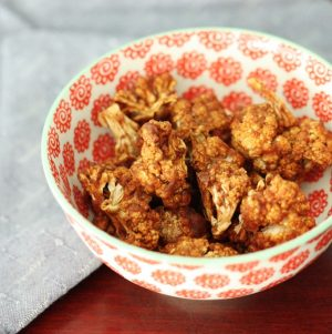 raw vegan caramelized cauliflower