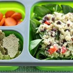 Packed Lunch: Easy Quinoa Veggie Salad with Zucchini Almond Crackers. Plus VitaCost Sale Details!