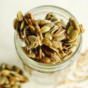 raw candied pumpkin seeds