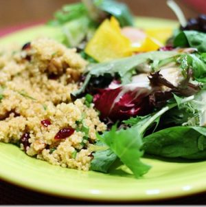 Anne P.'s Quinoa Salad with Cranberries and Pecans. Plus, Making Time for Friends: How Relationships Keep Me Centered.