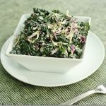 Kale-Slaw: Dinosaur Kale and Cabbage Slaw with Creamy Cashew Hemp Dressing