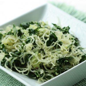 Hurry Up Vegan: Smashed Avocado, Kelp Noodle, and Lemon Bowl