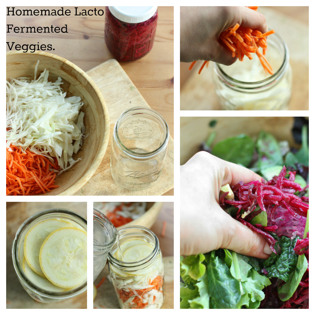 homemade lacto fermented vegetables
