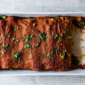 Stick-to-Your-Ribs Vegan Enchiladas
