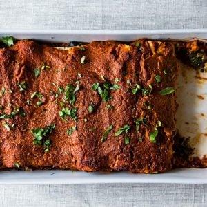 vegan quinoa enchiladas