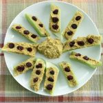 After School Snack: Celery Sticks with Curried Sunflower Spread and Raisins