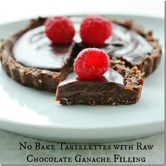raw vegan chocolate tartelets