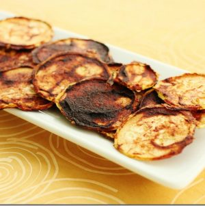 Raw, Vegan Barbeque Zucchini Chips