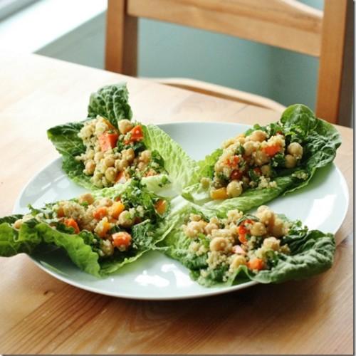 chickpea quinoa lettuce wraps