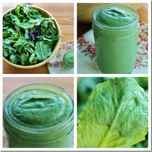 Electric Green Spirulina Avocado Salad Dressing
