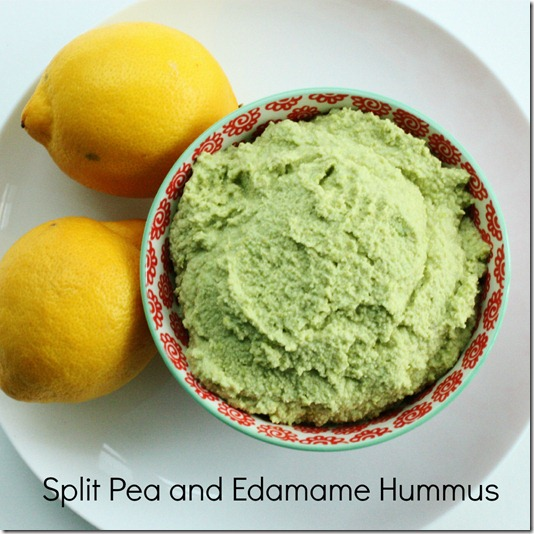 Split Pea and Edamame Hummus | The Full Helping