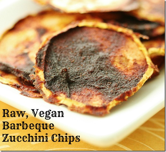 raw vegan bbq zucchini chips