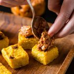 Easy Vegan Entertaining: Polenta Squares with Sundried Tomato and Walnut Tapenade