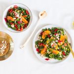 Blood Orange Kale Salad with Almonds