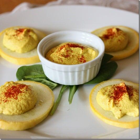 Raw vegan deviled eggs
