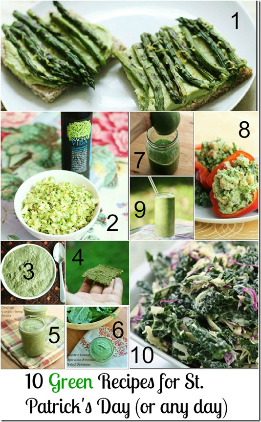 10 green recipes st. patricks