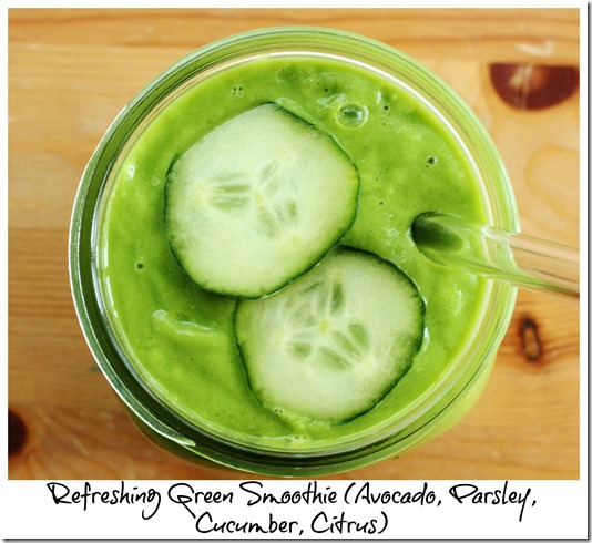 refreshing herb green smoothie