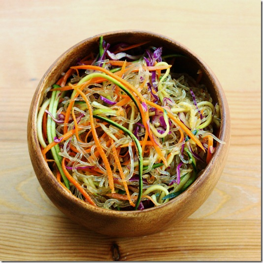 Raw vegan tamarind noodle bowl