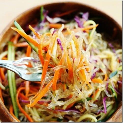 Raw vegan tamarind noodle bowl