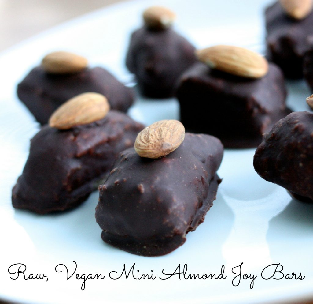 raw vegan almond joy bars