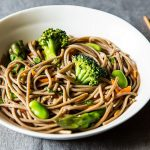 Cold Soba Noodle Salad with Spring Vegetables