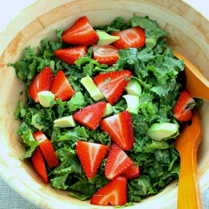 Kale, Avocado, and Strawberry Salad, Curated by Relay Foods