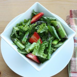 Asparagus and Strawberry Salad with Balsamic and Basil