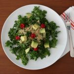 Refreshing Quinoa, Avocado, and Raspberry Breakfast (or Anytime) Salad