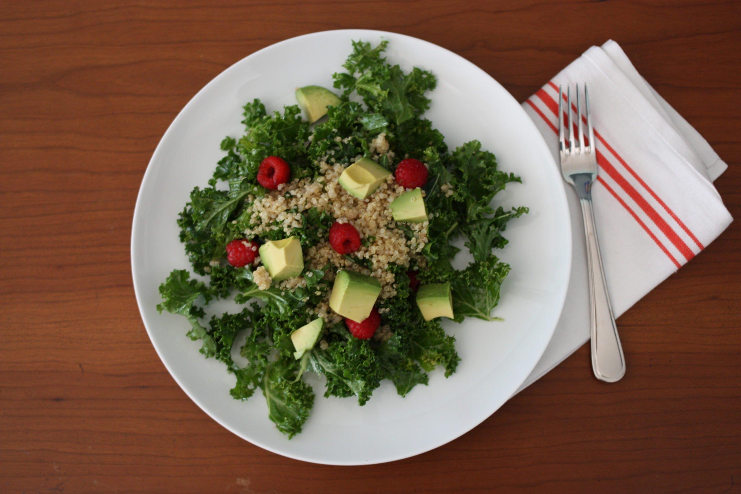 Refreshing Quinoa, Avocado, and Raspberry Breakfast (or Anytime) Salad ...