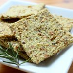 Raw Vegan Cheesy Almond Rosemary Crackers