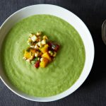 The New Veganism: Chilled Cucumber and Avocado Soup with Mango Salsa