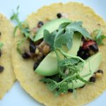 Black Bean and Corn Tostadas