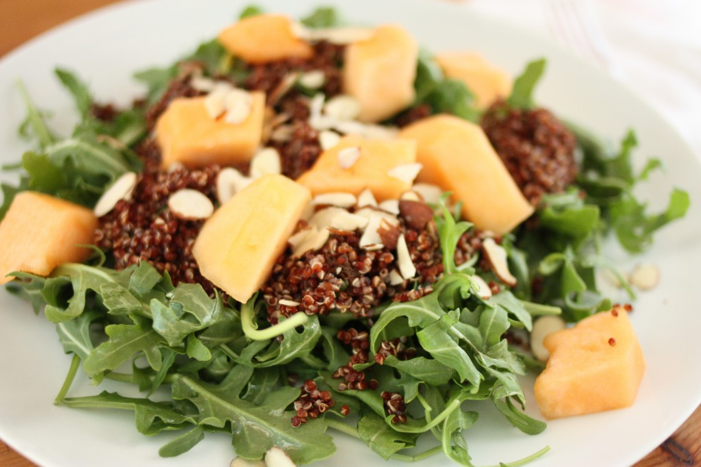 ... Quinoa, Almond and Arugula Salad with Cantaloupe | The Full Helping