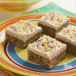 Raw Frosted Lemon Poppyseed Squares from Ricki Heller's Naturally Sweet and Gluten Free