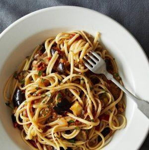 The New Veganism: Spicy Eggplant Pasta