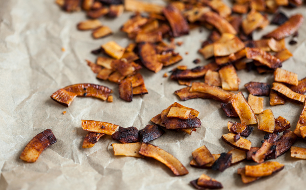 Easy Vegan Coconut Bacon | The Full Helping
