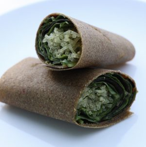 Raw Red Pepper and Coconut Wraps