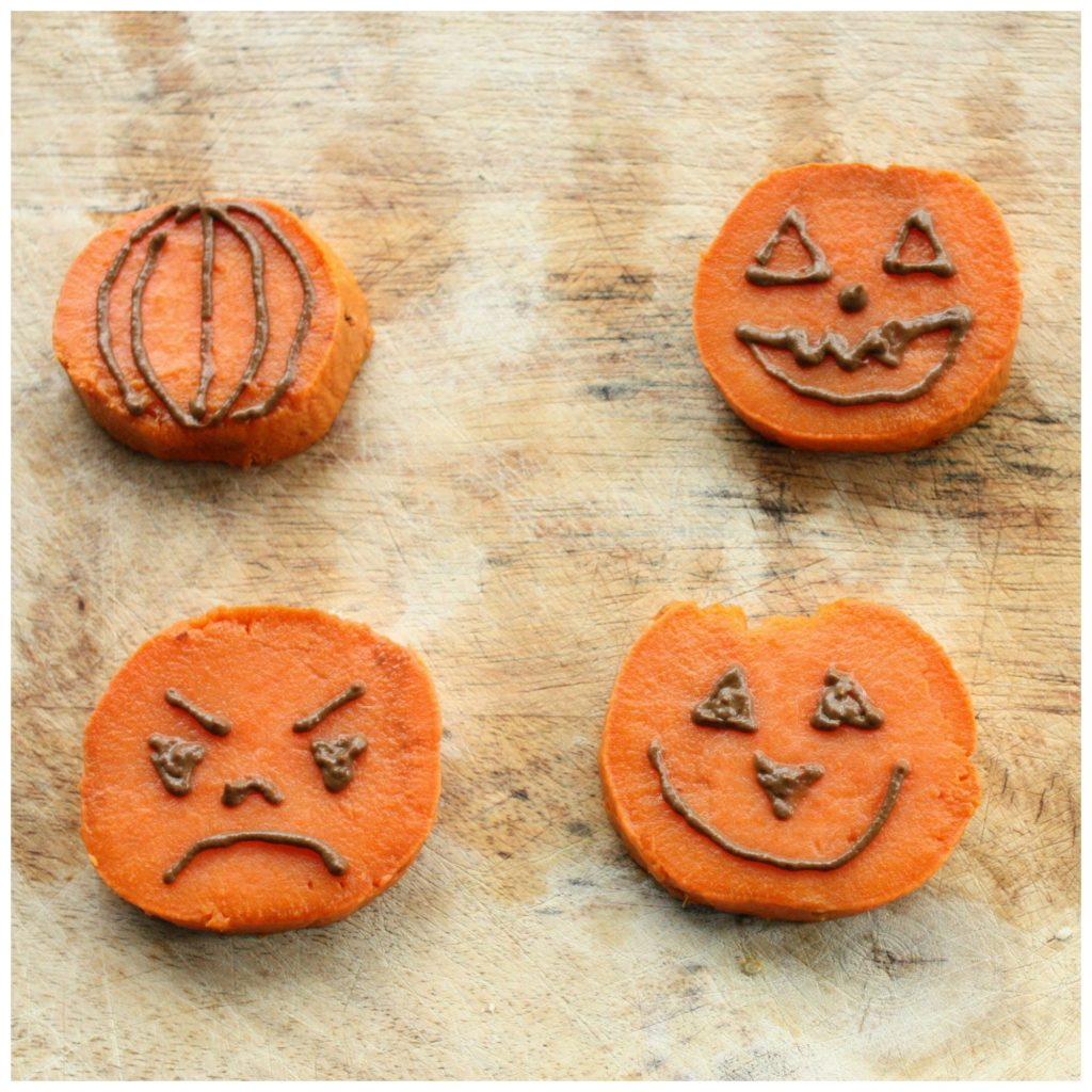 sweet potato jack o lanterns