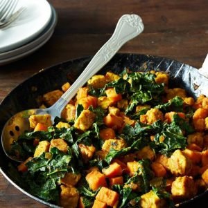 Leftover Love: Sweet Potato and Tempeh Hash with Kale for the Morning After Thanksgiving…or Anytime!