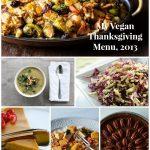 My Vegan Thanksgiving Menu, 2013