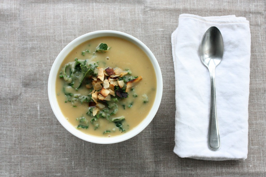 Roasted Rutabaga and Parsnip Soup with Kale and Coconut Bacon | The ...