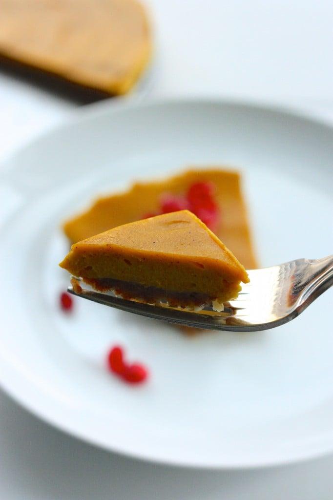vegan no bake pie fork