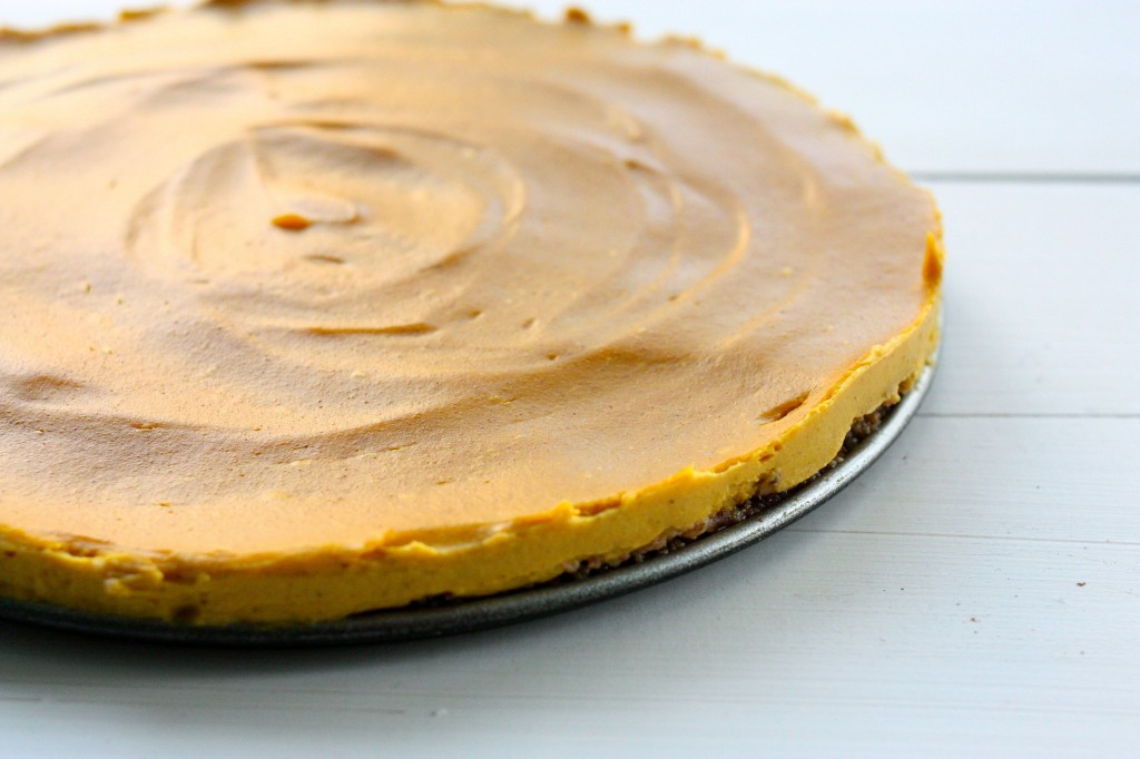 vegan no bake pie side