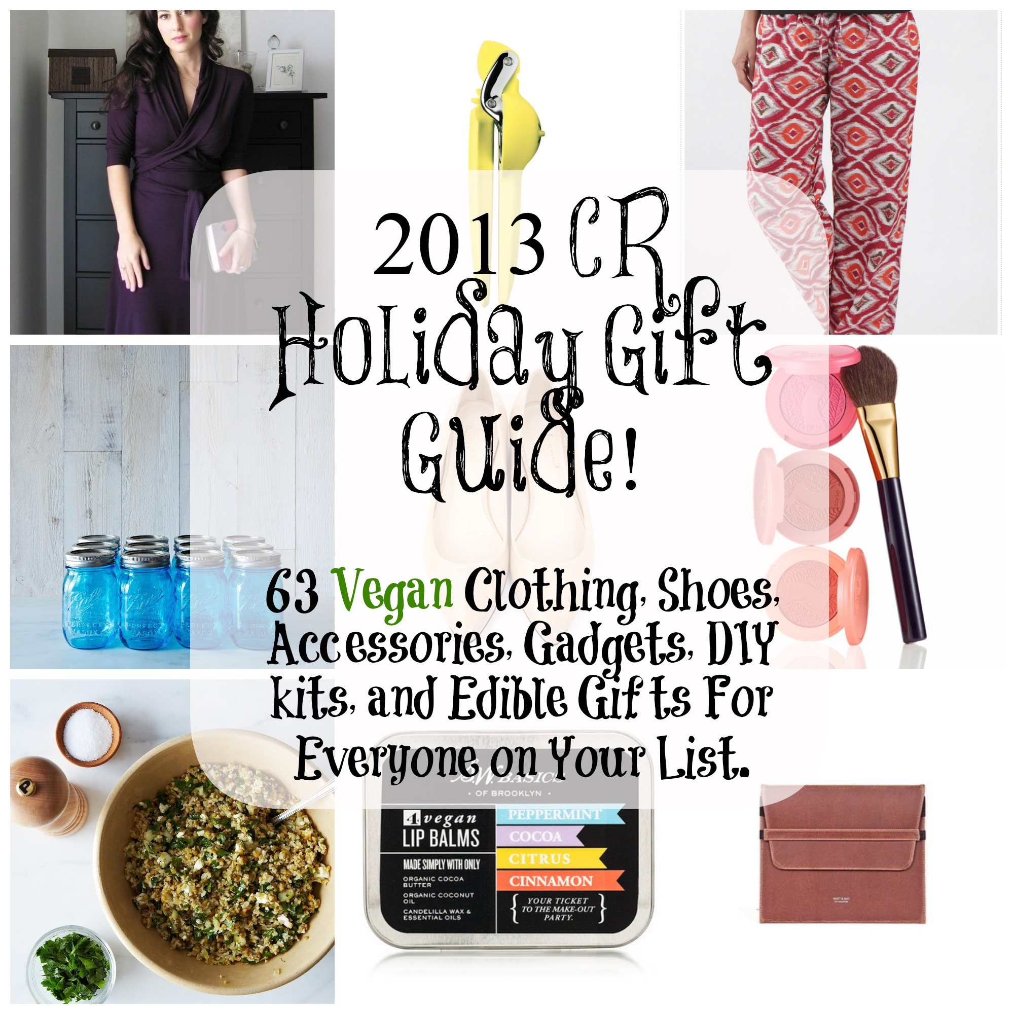 2013 holiday gift guide 63 ideas for vegan apparel for Gifts from the kitchen ideas for christmas