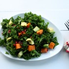 kale, sweet potato, pom salad header