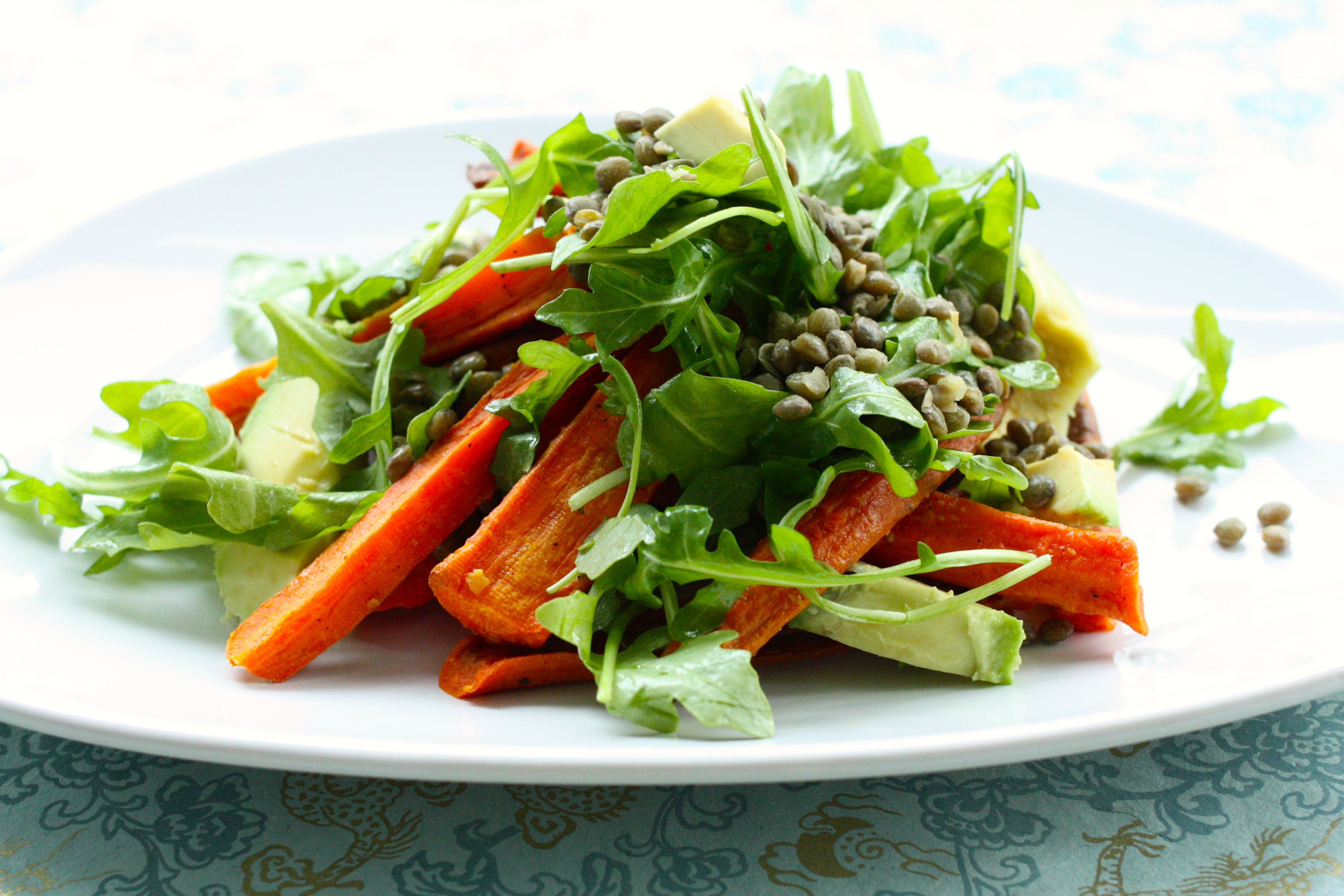 roasted carrot and avocado salad side   The Full Helping