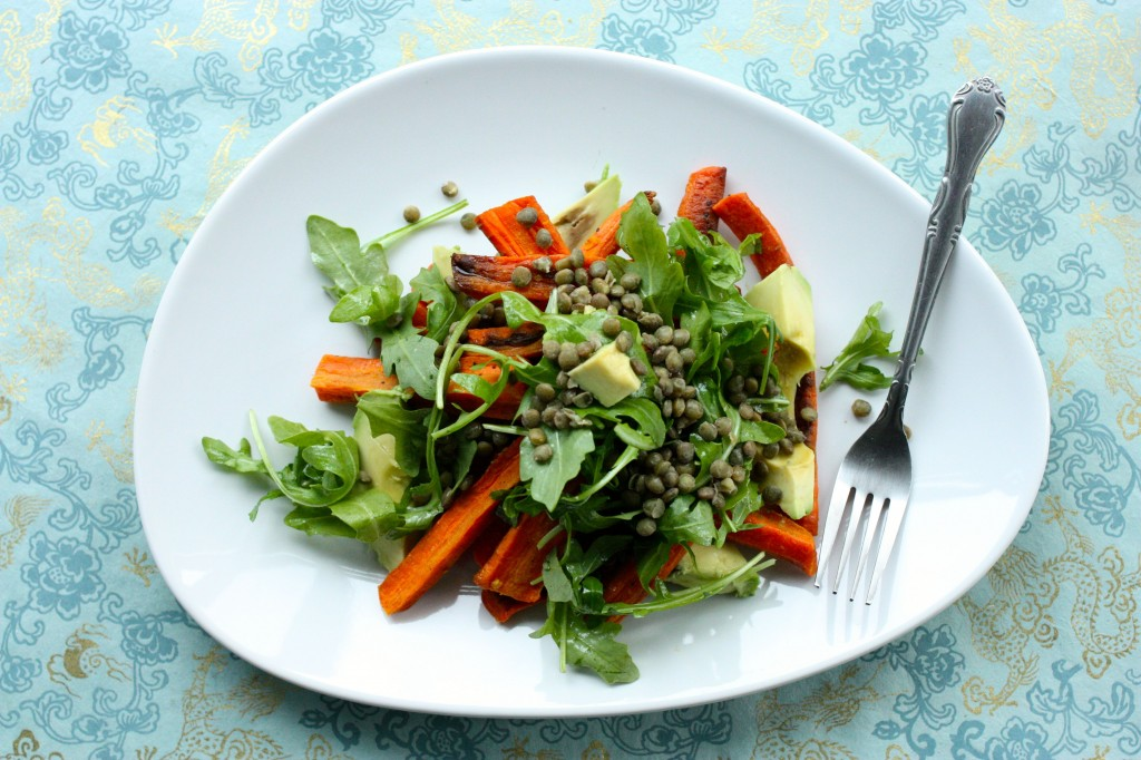 Roasted Carrot and Avocado Salad | The Full Helping