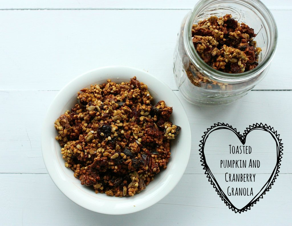 toasted pumpkin granola header