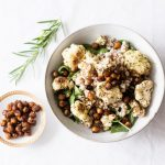 Farro Salad with Balsamic Roasted Cauliflower & Toasted Chickpeas